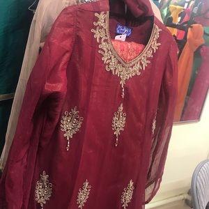 Women Pakistani peplum dress